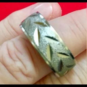 Men's Sterling Silver 1970's wedding band